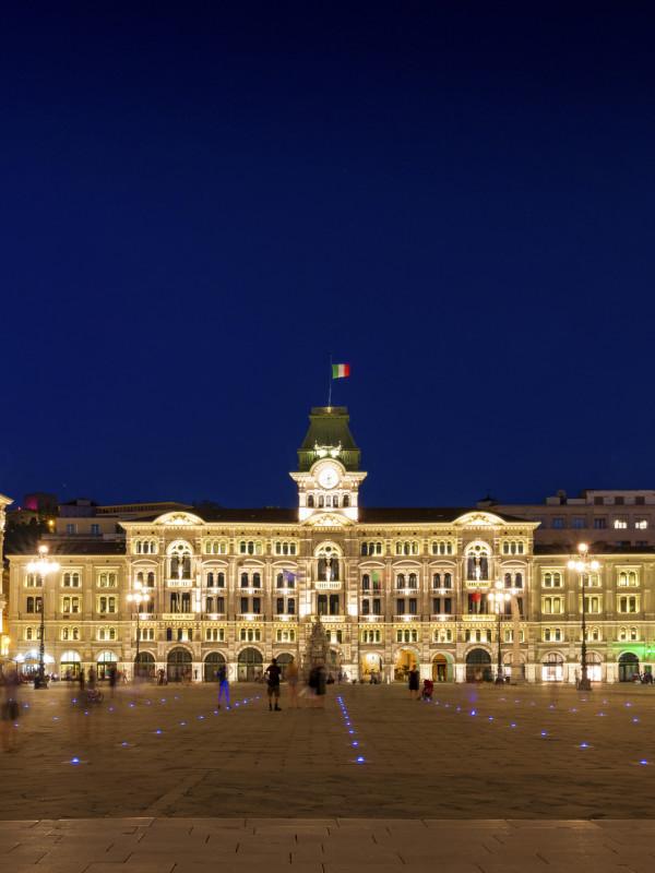 The main of Piazza Unita in Trieste, Italy